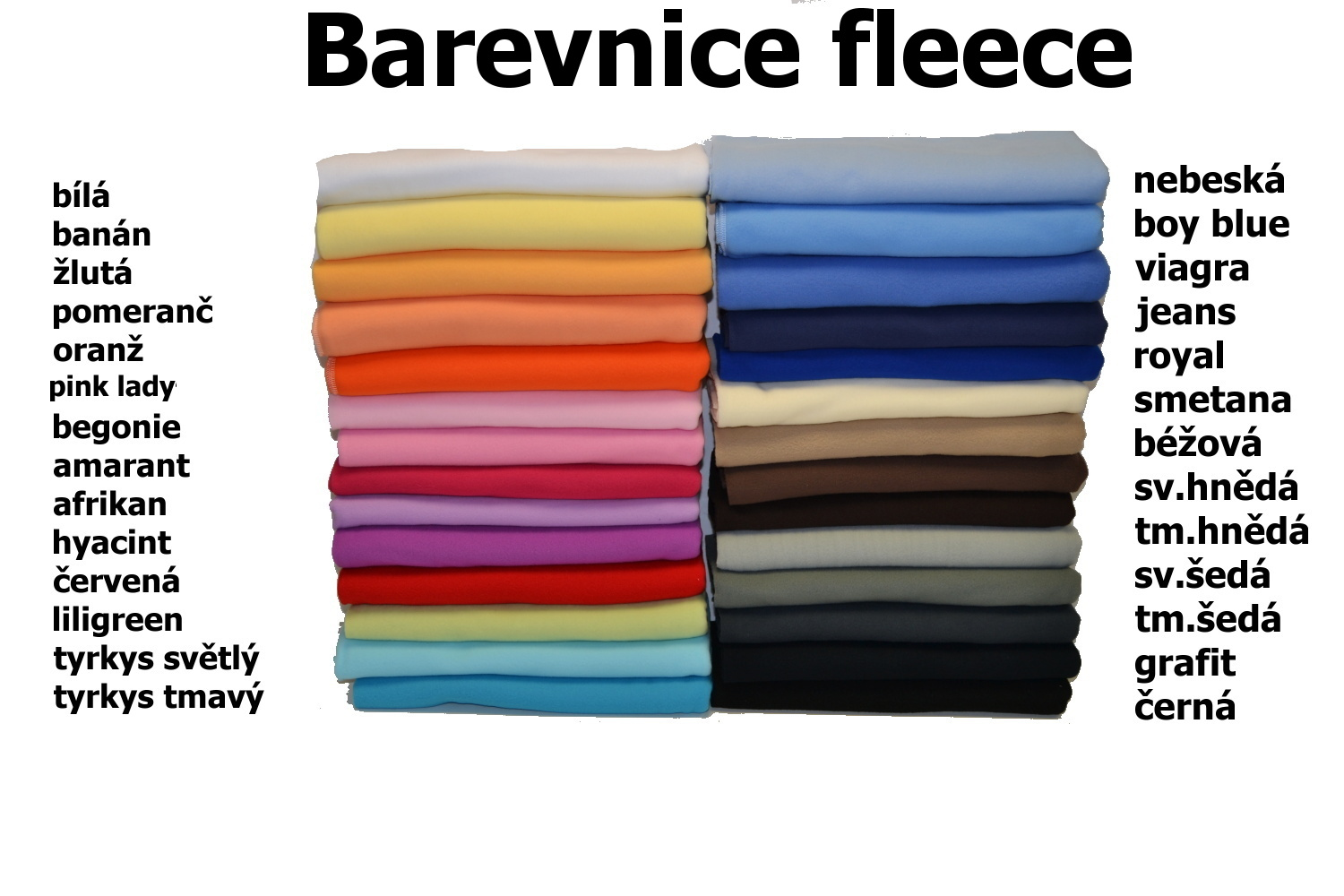 Barevnice fleece